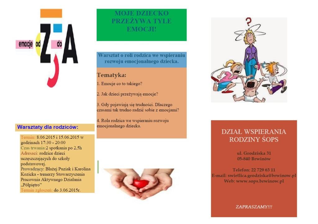Warsztaty dla rodziców w Brwinowie